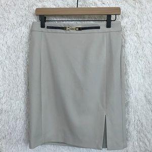 Express   Beige Belted Pencil Skirt 8
